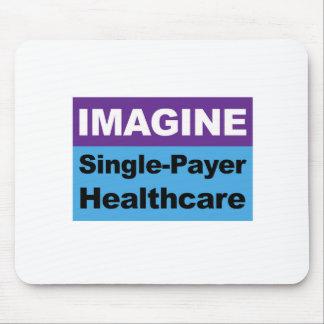 Imagínese la sola atención sanitaria del pagador alfombrilla de ratón