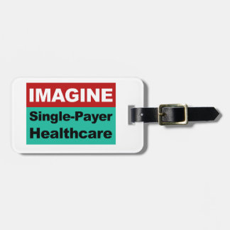 Imagínese la sola atención sanitaria del pagador etiqueta para maletas