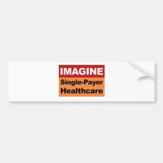 Imagínese la sola atención sanitaria del pagador pegatina para coche
