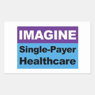 Imagínese la sola atención sanitaria del pagador pegatina rectangular