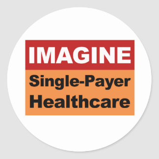 Imagínese la sola atención sanitaria del pagador pegatina redonda