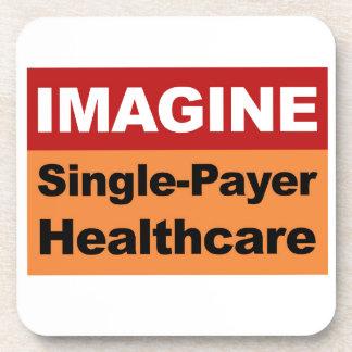 Imagínese la sola atención sanitaria del pagador posavasos