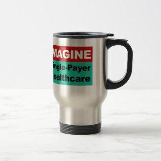 Imagínese la sola atención sanitaria del pagador taza de viaje
