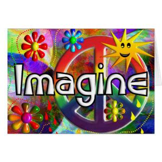 """""""Imagínese"""" los regalos de los años 70 de Psychade Tarjeta De Felicitación"""