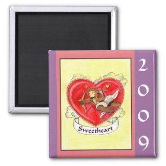 Imán 2009 del tatuaje de la tarjeta del día de San
