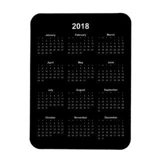 Iman 2018 calendario - texto blanco con el fondo negro