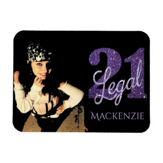Iman 21ro Recuerdo legal del negro del purpurina del