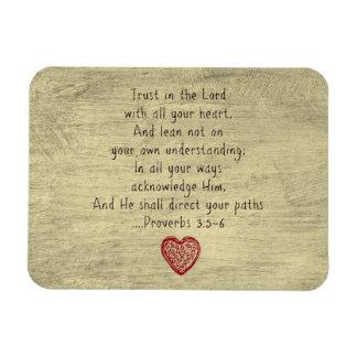 Iman 3:5 cristiano de los proverbios del verso de la