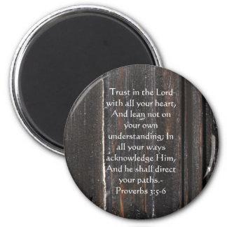 Imán 3:5 inspirado de los proverbios de la cita de la b