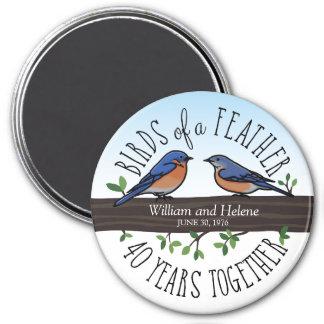 Imán 40.o Aniversario de boda, Bluebirds de una pluma
