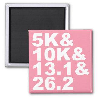 Imán 5K&10K&13.1&26.2 (blanco)