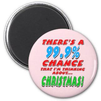 Imán 99,9% NAVIDAD (negro)