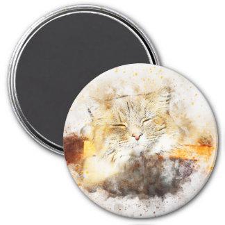 Imán Acuarela del extracto el | del gatito el | de la