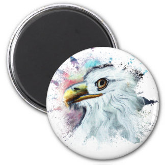 Imán Acuarela Eagle calvo