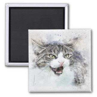 Imán Acuarela enojada del extracto el | del gatito el |