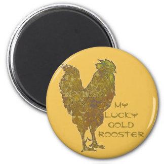 Imán afortunado del gallo el | del oro