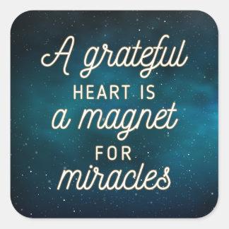 Imán agradecido del corazón para el sello del