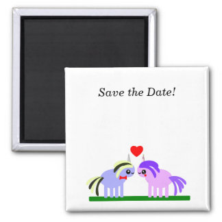 Imán ¡Ahorre la fecha! Boda del unicornio