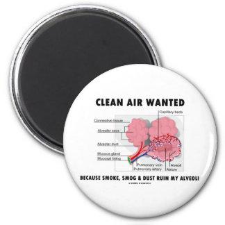 Imán Aire limpio querido (humor de los alvéolos de la