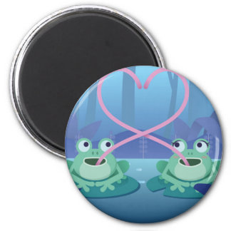 Imán amantes de la rana del día de San Valentín
