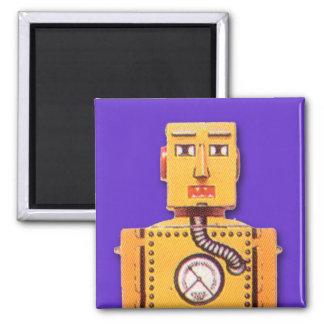 Imán amarillo del cuadrado del robot del juguete