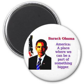 Imán América un lugar en donde podemos estar - Barack