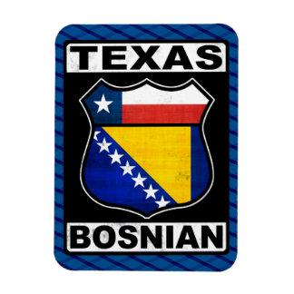 Imán americano bosnio de la muestra de Tejas