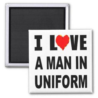 Imán Amo a un hombre en uniforme