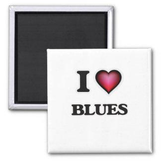 Imán Amo azules
