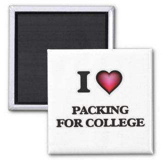 Imán Amo el embalar para la universidad