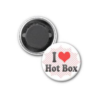 Imán Amo la caja caliente