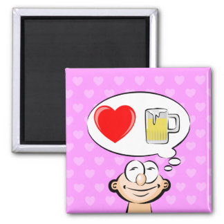 Imán Amo la cerveza