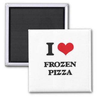 Imán Amo la pizza congelada