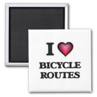 Imán Amo las rutas de la bicicleta