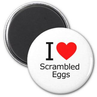 Imán Amo los huevos revueltos