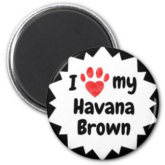 Imán Amo mi gato de La Habana Brown
