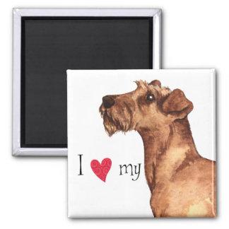 Imán Amo mi Terrier irlandés