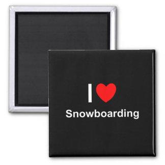 Imán Amo snowboard del corazón