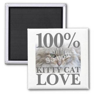 Imán Amor 100% del gato del gatito de la foto de la