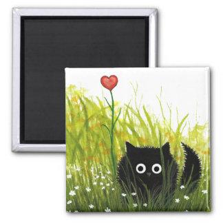 Imán Amor borroso Bihrle del gato negro uno