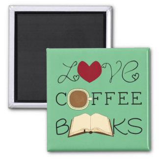 Imán Amor, café, libros - elija el color