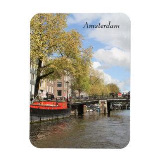 Iman Amsterdam, canal, puente, casa flotante, Países