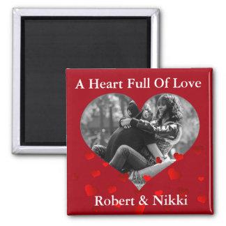 Imán Añada su imagen y mensaje románticos