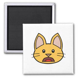 Imán anaranjado 01 del gato FACE0000004