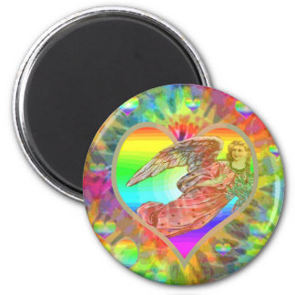 Imán Ángel del teñido anudado del arco iris