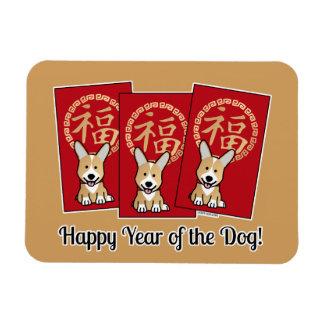 Iman Año afortunado del Corgi del sobre rojo chino del