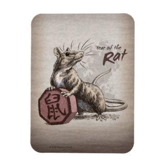 Iman Año del arte chino del zodiaco de la rata