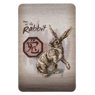 Iman Año del arte chino del zodiaco del conejo