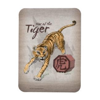 Iman Año del arte chino del zodiaco del tigre