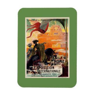 Iman Anuncio antiguo 1911 del viaje de la expo de Roma
